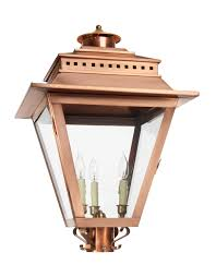 Post Light Fixtures As 880 Post Light Copper Lantern Gas And Electric Lighting