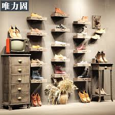 Shoe Display Racks The Power Of S Clothing Store On The Wall Shoe Rack Shelf
