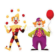 clown graphics 89 clown graphics backgrounds two cheerful clown on a comic illustration isolated