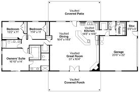 100 open floor house plans 1 story the santa fe ff16763g