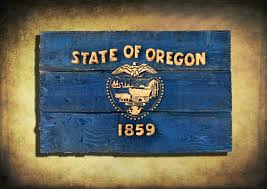 oregon flag distressed wooden flag vintage art distressed