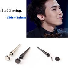 black earrings for men online shop new style sell fashion rock hip hop titanium