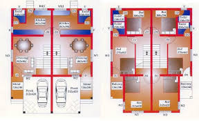 Twin House Plans Twin Home Coimbatore Buy Sale Row House Home Building Plans 61021