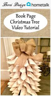 Home Decor Craft Diy How To Make Upcycled Book Page Christmas Trees