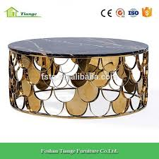 marble base table l antique copper finish stainless steel base black marble top l