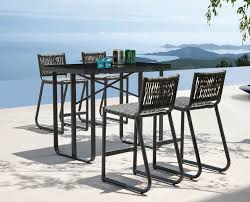 Patio Table Bar Height Patio Furniture Bar Height In Trendy Stools Metal Chairs Kitchen
