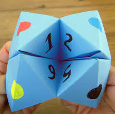 what to write on a paper fortune teller how to make a paper cootie catcher feltmagnet