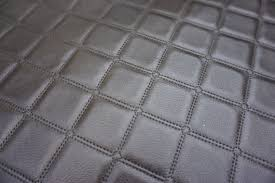 Upholstery Fabric Cars Brown Quilted Patchwork Stitch Look Leather Upholstery Fabric Vw