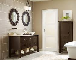 Wooden Bathroom Mirror Simple Bathroom Mirror With Brown Wooden Vanity And