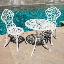 amazon com belleze outdoor patio cast aluminum leaf design