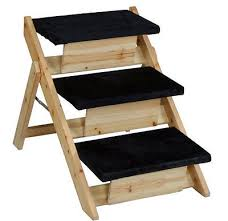 dog stairs pet ramp wooden ladder portable step folding bed steps