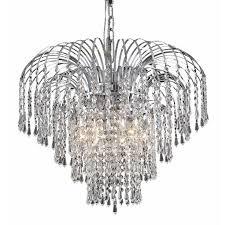 Elegant Crystal Chandelier Elegant Lighting Falls 21 6 Light Spectra Crystal Chandelier