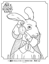 alice glass white rabbit coloring mama