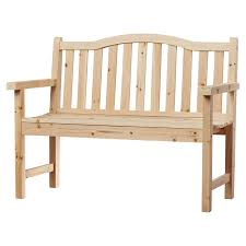Garden Bench Hardwood Loon Peak Buffalo Peak Wood Garden Bench U0026 Reviews Wayfair