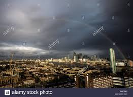 uk 4th january 2016 uk weather rainbow breaks