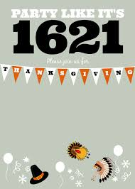 diy printable thanksgiving like it s 1621 invite