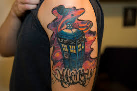 as promised my tardis tattoo that i got finished today doctorwho