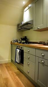astounding georgian style kitchen come with grey color wooden