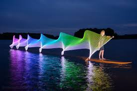 Kayak Night Lights New Light Paintings That Capture The Movement Of Kayaking And