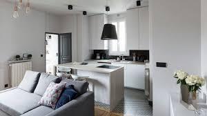 sejour avec cuisine ouverte appartement neuilly sur seine 60 m2 rénovés côté maison