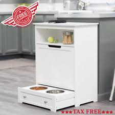 Food Storage Cabinet Home Pet Feeder Station Food Storage Cabinet Tray Pantry