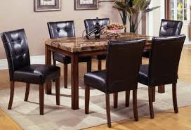 leather dining room sets dining chairs impressive 6 leather dining chairs pictures 6
