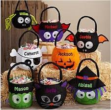 personalized trick or treat bags reflective personalized basket baskets