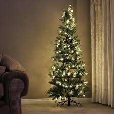 cheap 5 10ft hazen slim blue pine christmas tree with warm white