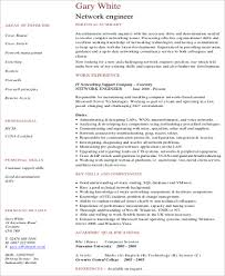 Resume Samples For Network Engineer by Sample Network Engineer Resume 9 Examples In Word Pdf