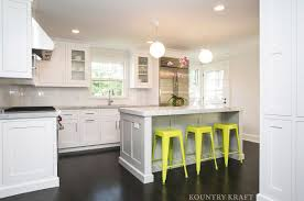 white cabinets with green doors small kitchen solutions