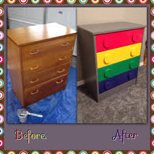 lego dresser from vintage thrift store using spray paint and