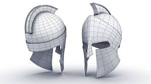 3d spartan and roman helmet cgtrader