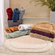 Oval Bath Rugs Superior Collection Luxurious Cotton Non Skid Oval Bath Rug 2