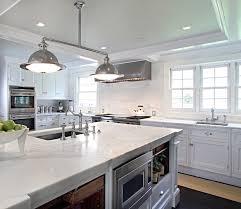 Microwave In Island In Kitchen Coffered Ceiling Kitchen Traditional Kitchen Jillian Klaff Homes