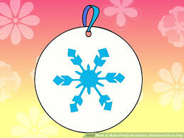 how to make pretty snowflake ornaments from clay 13 steps
