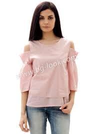 light pink top women s women s light pink top with scarf neck and pleats primavera