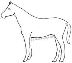 simple pencil horse drawings