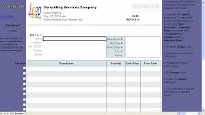 consulting invoice template 1 10 download