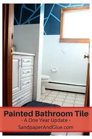 painted bathroom tile a one year update stephanie marchetti