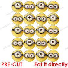 minions cake toppers wafer paper for cup cake topper minion minions decoration birthday