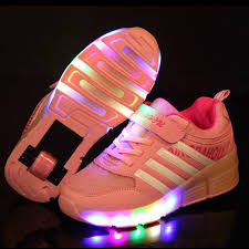 heelys light up shoes new fashion children sneakers with wheels kids light up shoes girls