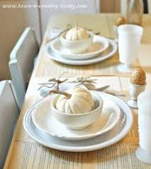 table setting runner and placemats fall home tour week via all things home country living shabby