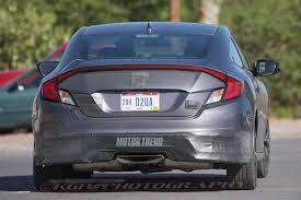honda civic crowned top car spied 2017 honda civic si coupe tests wearing minimal camo