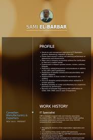 Logistics Specialist Resume Sample by It Specialist Resume Samples Visualcv Resume Samples Database