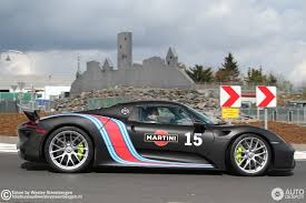 martini porsche 918 porsche 918 spyder weissach package 28 april 2017 autogespot