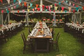wedding tent colorful wedding tent reception bunting farm tables wedding