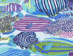 Beach Theme Quilt Fish U0026 Ocean Themed Quilting Cotton Fabrics