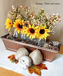 Sunflower Centerpiece Sunflowers For Fall Vintage Paint And More