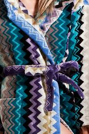 missoni home giacomo hooded bathrobe in blues fwrd