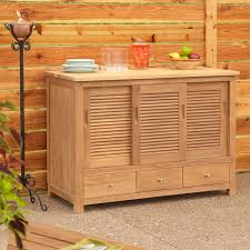 Outdoor Kitchen Furniture Teak Outdoor Kitchen Cabinets Signature Hardware